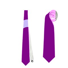 Purple Waves Neckties (Two Side)  by Valentinaart