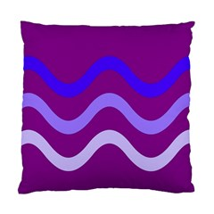 Purple Waves Standard Cushion Case (one Side) by Valentinaart