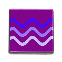 Purple Waves Memory Card Reader (square) by Valentinaart