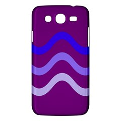 Purple Waves Samsung Galaxy Mega 5 8 I9152 Hardshell Case  by Valentinaart