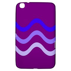Purple Waves Samsung Galaxy Tab 3 (8 ) T3100 Hardshell Case  by Valentinaart