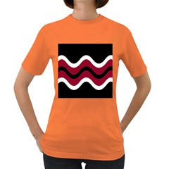 Decorative Waves Women s Dark T Shirt by Valentinaart