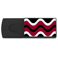 Decorative Waves Usb Flash Drive Rectangular (4 Gb)  by Valentinaart