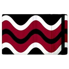 Decorative Waves Apple Ipad 2 Flip Case by Valentinaart