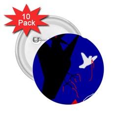 Night Birds  2 25  Buttons (10 Pack)  by Valentinaart