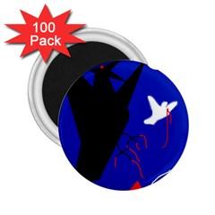 Night Birds  2 25  Magnets (100 Pack)  by Valentinaart