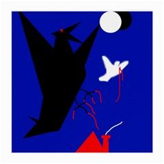 Night Birds  Medium Glasses Cloth by Valentinaart