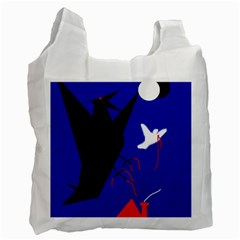 Night Birds  Recycle Bag (two Side)  by Valentinaart