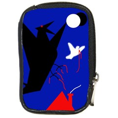 Night Birds  Compact Camera Cases by Valentinaart