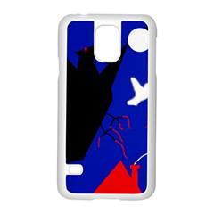 Night Birds  Samsung Galaxy S5 Case (white) by Valentinaart