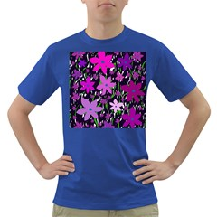 Purple Fowers Dark T Shirt by Valentinaart
