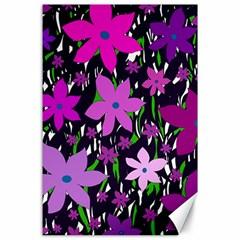 Purple Fowers Canvas 24  X 36  by Valentinaart
