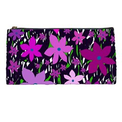 Purple Fowers Pencil Cases by Valentinaart