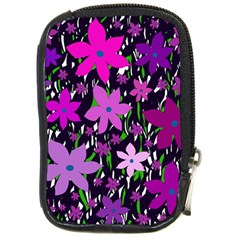 Purple Fowers Compact Camera Cases by Valentinaart