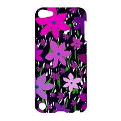 Purple Fowers Apple iPod Touch 5 Hardshell Case by Valentinaart