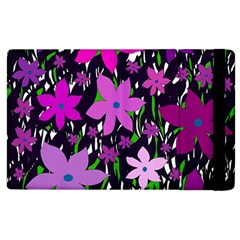 Purple Fowers Apple Ipad 2 Flip Case by Valentinaart
