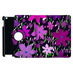 Purple Fowers Apple Ipad 2 Flip 360 Case by Valentinaart