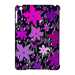 Purple Fowers Apple Ipad Mini Hardshell Case (compatible With Smart Cover) by Valentinaart