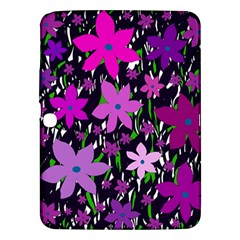 Purple Fowers Samsung Galaxy Tab 3 (10.1 ) P5200 Hardshell Case  by Valentinaart