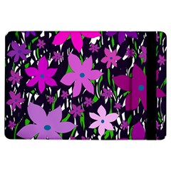 Purple Fowers Ipad Air Flip by Valentinaart