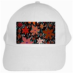 Orange Flowers  White Cap by Valentinaart
