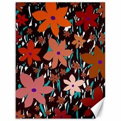 Orange Flowers  Canvas 18  X 24   by Valentinaart