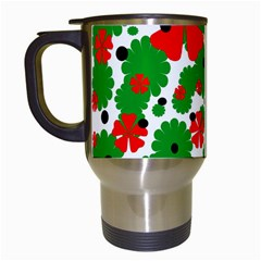 Red And Green Christmas Design  Travel Mugs (white) by Valentinaart