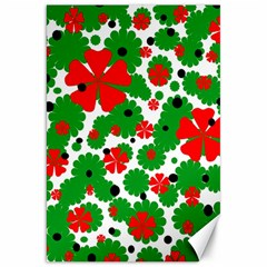 Red And Green Christmas Design  Canvas 20  X 30   by Valentinaart