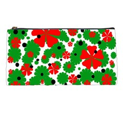 Red And Green Christmas Design  Pencil Cases