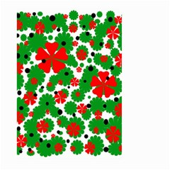 Red And Green Christmas Design  Large Garden Flag (two Sides) by Valentinaart