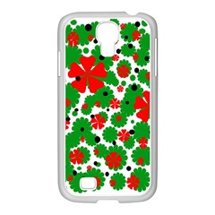 Red And Green Christmas Design  Samsung Galaxy S4 I9500/ I9505 Case (white) by Valentinaart