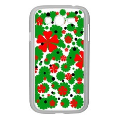 Red And Green Christmas Design  Samsung Galaxy Grand Duos I9082 Case (white) by Valentinaart