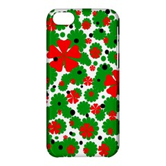 Red And Green Christmas Design  Apple Iphone 5c Hardshell Case by Valentinaart
