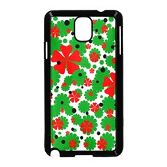 Red And Green Christmas Design  Samsung Galaxy Note 3 Neo Hardshell Case (black) by Valentinaart