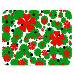 Red And Green Christmas Design  Double Sided Flano Blanket (medium)  by Valentinaart