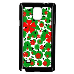 Red And Green Christmas Design  Samsung Galaxy Note 4 Case (black) by Valentinaart