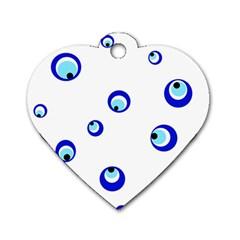 Mediterranean Blue Eyes Dog Tag Heart (two Sides) by Valentinaart