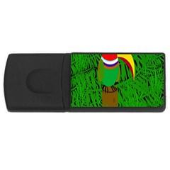 Toucan USB Flash Drive Rectangular (1 GB)  by Valentinaart