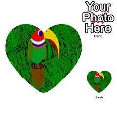 Toucan Multi Purpose Cards (heart)  by Valentinaart