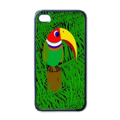 Toucan Apple Iphone 4 Case (black) by Valentinaart