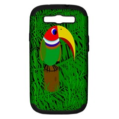 Toucan Samsung Galaxy S Iii Hardshell Case (pc+silicone) by Valentinaart