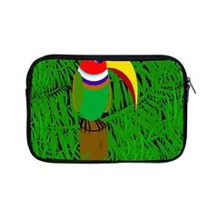 Toucan Apple Ipad Mini Zipper Cases by Valentinaart