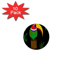 Toucan 1  Mini Buttons (10 Pack)  by Valentinaart