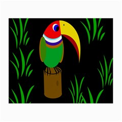 Toucan Small Glasses Cloth by Valentinaart