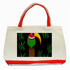 Toucan Classic Tote Bag (red) by Valentinaart