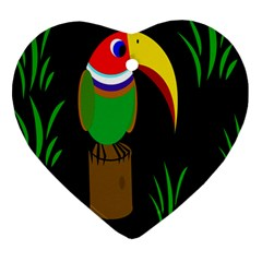 Toucan Heart Ornament (2 Sides) by Valentinaart