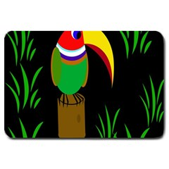 Toucan Large Doormat  by Valentinaart