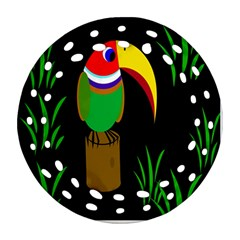 Toucan Ornament (Round Filigree)  by Valentinaart
