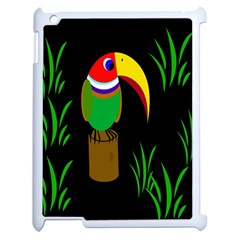 Toucan Apple Ipad 2 Case (white) by Valentinaart