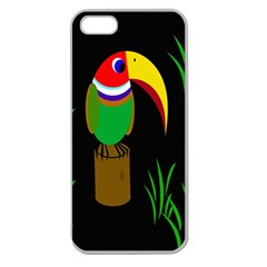 Toucan Apple Seamless Iphone 5 Case (clear) by Valentinaart
